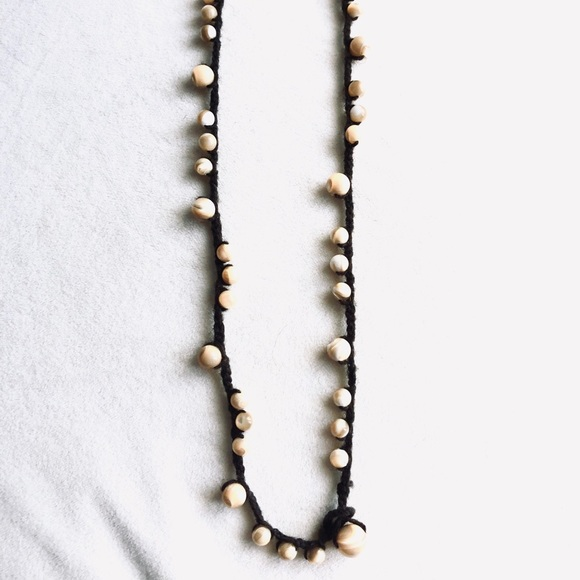 BANANA REPUBLIC Beaded Cotton Strand Necklace
